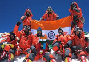 A team of NCC girl cadets, Indian army wing, and Indian- India Tv