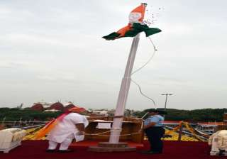 PM Modi unfurling the National Flag at the ramparts of Red Fort, on the occasion of 70th Independence Day.