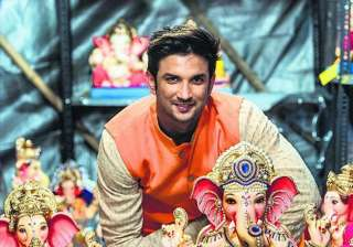 Actor Sushant Singh Rajput too posed with some spectacular idols of Lord Ganesha.