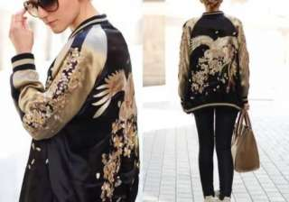 Embroidered long silk jacket: The thing about this beautiful long jacket is its inherent regal style that has travelled down ages without ageing itself. Royal and elegant, it owns the dress it is worn with without taking anything away from it.