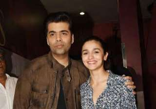 Alia posed with her mentor and director Karan Johar. The filmmaker has bankrolled 'Badrinath Ki Dulhania'.