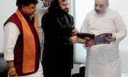 Hans with Amit Shah- India Tv