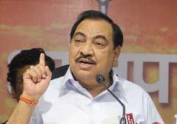 Khadse resigned as the minister in Maharashtra cabinet