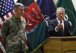 John Nicholson and James Mattis hold a news conference in