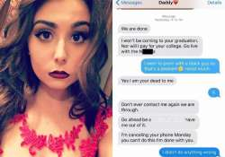 dad sends racist texts to daughter