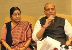 File pic of Sushma Swaraj and Rajnath Singh- India Tv