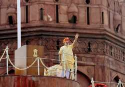 PM Modi at Red Fort during Independence Day celebrations