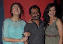 spotted huma nawazuddin richa at the first look launch of