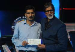 kbc 6 gets first crorepati in kashmir s manoj raina