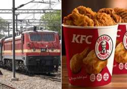 now you can order kfc during train journey