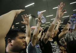 hong kong student democracy strike ends in chaos