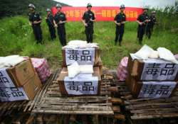 over 250 held for drug trafficking in china