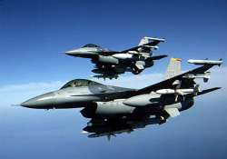 us air force f 16 fighters escort two flights after alerts