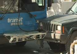 eight killed as jeep collides with bus