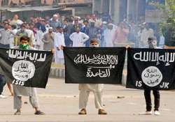 isis and al qaeda flags in kashmir put cops on high alert