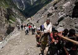 jammu kashmir highway blocked due to landslide amarnath