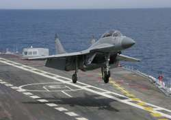 mig 29k suffers damage on ins vikramaditya