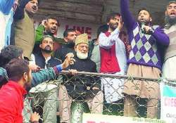 top kashmiri separatist leaders share dais after 5 years