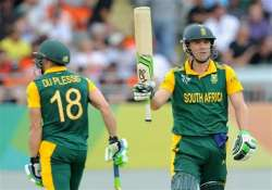 world cup 2015 south africa sets nz 298 in 43 overs to win
