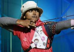 national games deepika leads jharkhand to recurve gold