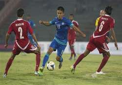 india beat nepal 2 0 in 1st leg of world cup qualifiers