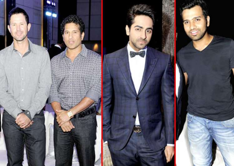 bollywood and cricket celebs attend kishor pate s son s- India Tv