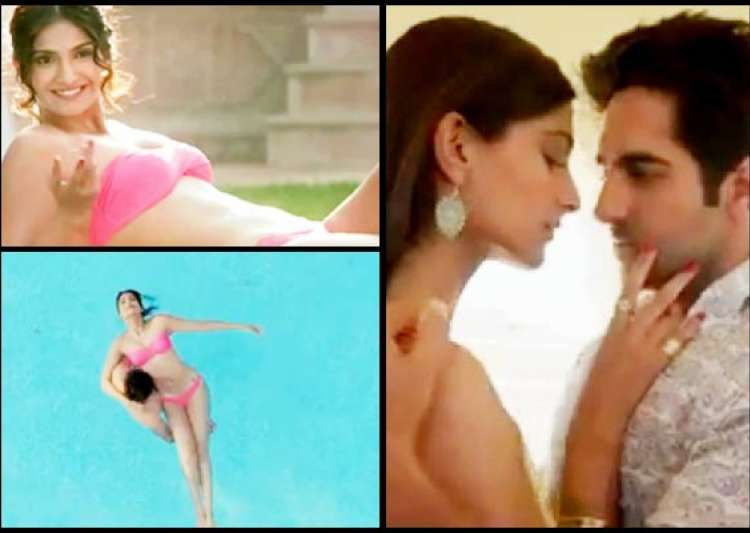 sonam kapoor sizzles in hot pink bikini see pics- India Tv