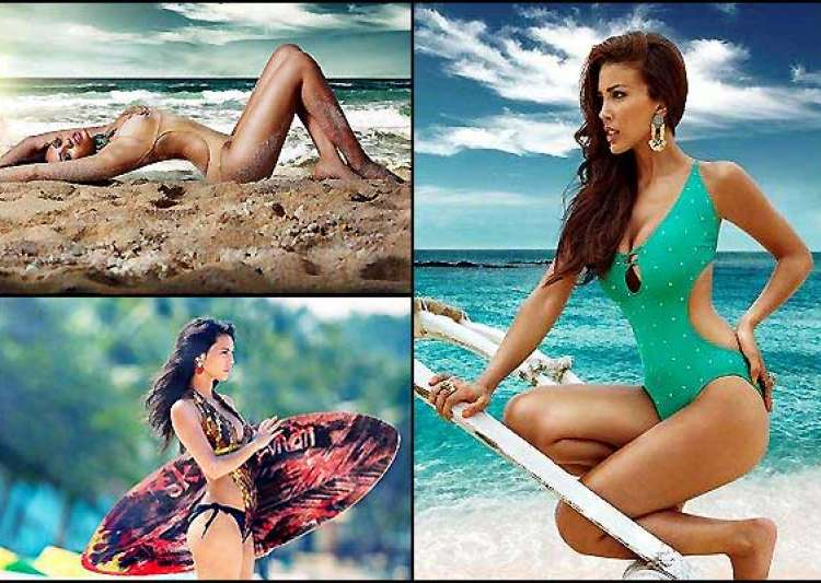 kingfisher launches swimsuit calendar 2014 view pics- India Tv