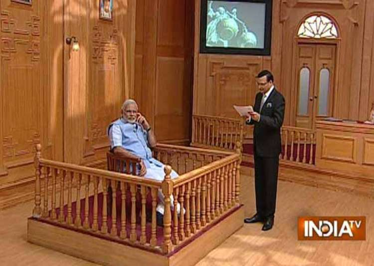 in pics narendra modi in rajat sharma s aap ki adalat- India Tv