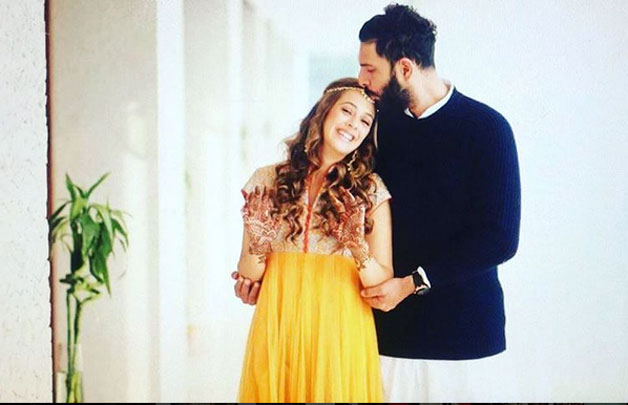 Yuvraj even shared an adorable picture with his lady love on Facebook, he is seen planting a kiss on her forehead as the cricketer confessed that he couldn't have found a better life partner.