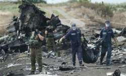 Wreckage of MH17 which was shot down over Ukraine in 2014.