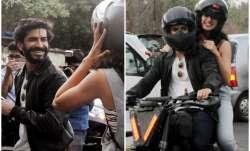 Pics: Harshvardhan Kapoor and Taapsee Pannu enjoy bike ride