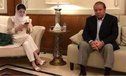 Former Pakistan PM Nawaz Sharif and daughter Maryam Sharif