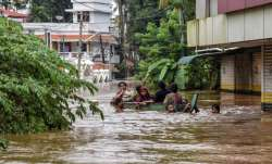 Kochi: People being rescued from a flood-affected region