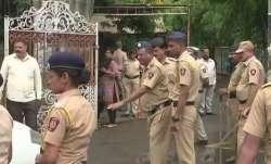 Visuals outside Pune court, whereSachin Andure was