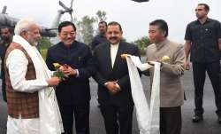 PM Modi arrived in Gangtok for a two-day visit to the state