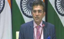 MEA spokesperson Raveesh Kumar.