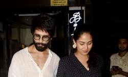 Bollywood celebrity couple Shahid Kapoor and Mira Rajput