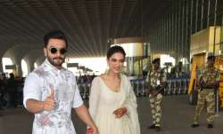 Deepika Padukone and Ranveer Singh were all smiles as they