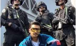 Simmba: Ranveer Singh, Rohit Shetty pose with Indian Navy