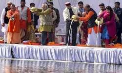 President Ram Nath Kovind, Uttar Pradesh Governor Ram Naik,