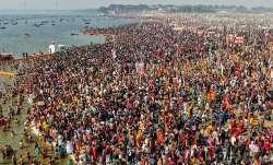 Devotees gather to take a holy dip at Kumbh Mela, Prayagraj