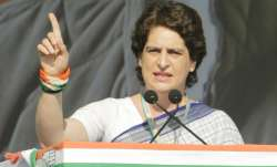 Priyanka Gandhi during an election rally