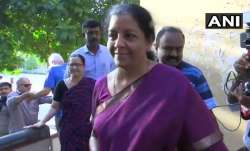 Defence Minister Nirmala Sitharaman arrives at polling