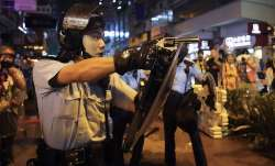 Hong Kong police draw guns in latest protest violence