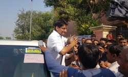 Video: Deepender Singh Hooda casts vote, drinks milk while