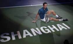 Daniil Medvedev after winning his sixth consecutive title