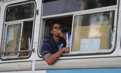 Bus carries voters in Sri Lanka elections