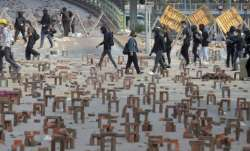 Hong Kong police say protesters out of control, deny curfew