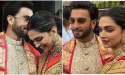 Photo of the day: Deepika Padukone, Ranveer Singh's newly-wed look from Tirupati
